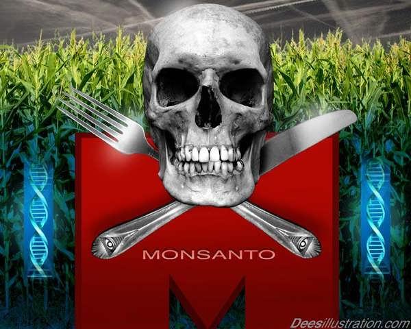 CRÁNEO Y HUESOS CRUZADOS Monsantoskull67t6