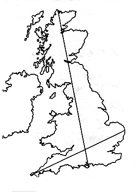 Britain with the Belinus Line and the St. Michael Line