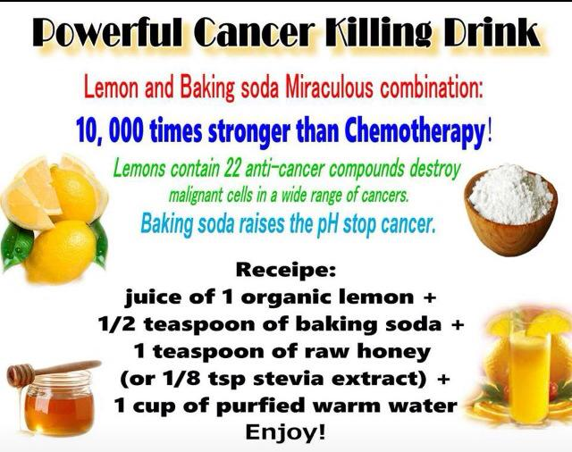 Cancer Cure Drink Lemon Juice