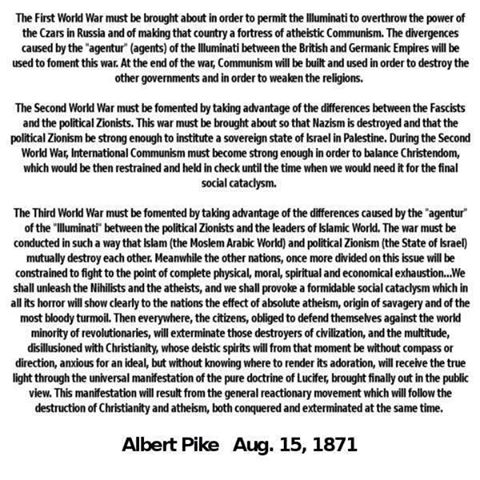 Image result for albert pike first world war quotes