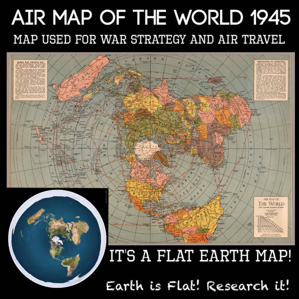 flat map of earth - photo #25