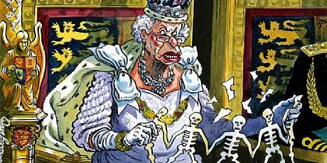 God save the Queen as she and her family lubricate Britain's wars  Queen_puppet_460