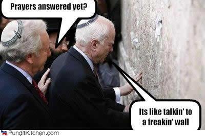 Satan at the wailing wall